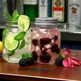 4 Mason Jar drinkbekers met deksel 490ml_