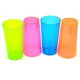 5 Rood/Roze Neon Glazen Plastic 285ml_