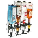 Wandrek voor 4 flessen (zonder maatschenkers)_