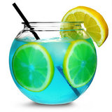 4 Mini Cocktail Fishbowls 568ml_