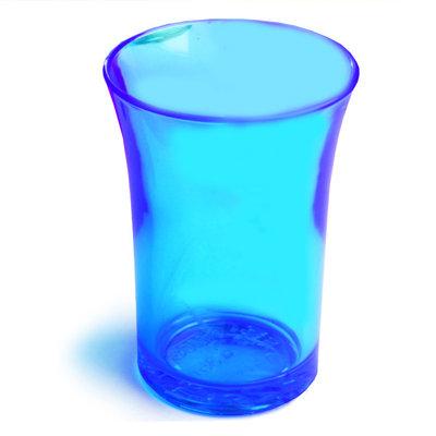Blauwe Neon Plastic Shotglazen
