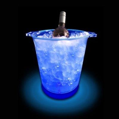 LED Flessen Emmer met blauw licht