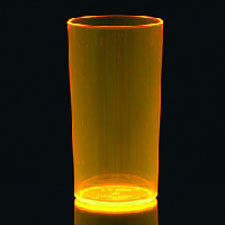 5 Oranje Neon Plastic Glazen 285ml