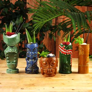 Tiki Keramische Cocktailbekers (5 stuks)