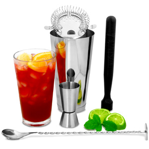 Boston Cocktail Shaker Set met barmaatje