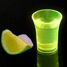 Gele Neon plastic shotglazen (herbruikbaar)
