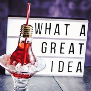 Gloeilamp Cocktail Glas  ( 4 stuks )