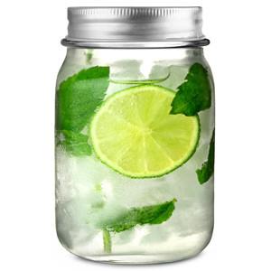 4 Mason Jar drinkbekers met deksel 490ml