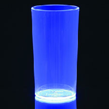 5 Blauwe Neon Glazen Plastic 285ml
