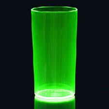 5 Groene Neon Glazen Plastic 285ml