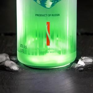 VIP Bottle Glow LED Stickers Groen