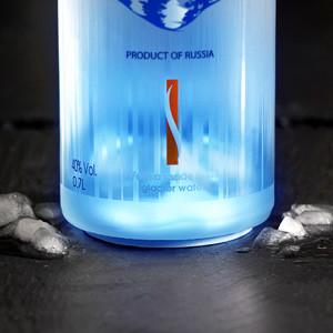 VIP Bottle Glow LED Stickers Blauw