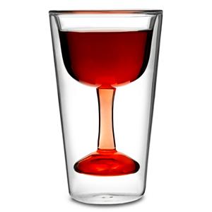 Wijnglas in glas (per 2)