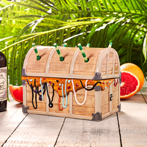 Ceramic Davy Jones' Treasure Chest Tiki Sharer 44oz / 1.25ltr